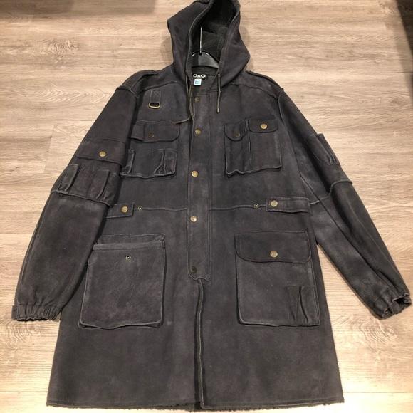 Dolce & Gabbana 100% leather & sheepskin coat